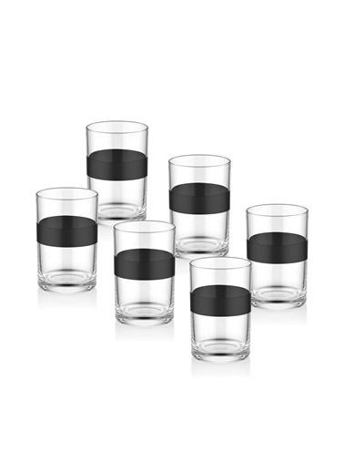 The Mia Dark Kahve Yanı Su Bardağı 6 Lı Set  Siyah
